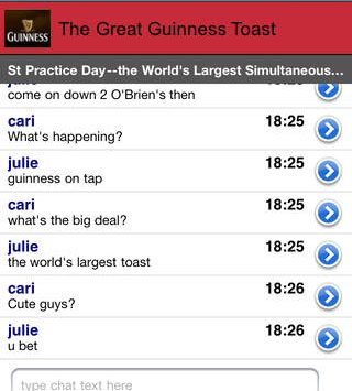 The great Guinness toast