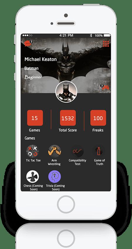 Freak-Gaming-and-Messaging-app
