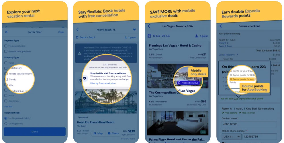 cost to develop expedia app