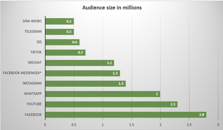 Instagram audience size